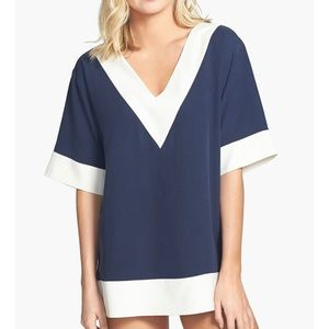 Tory Burch 'Lipsi' Colorblock Cover-Up Tunic NWT